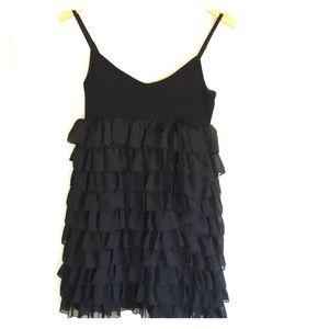 Forever 21 little black ruffled dress size XS